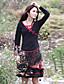 voordelige Damesbovenkleding-Dames Chinoiserie T-shirt Geborduurd V-hals