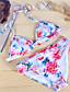 halpa Bikinit ja uima-asut 2017-Nais- Polyesteri Yksivärinen / Geometrinen / Nauhat Bikini, Halter