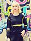 billige Hettegensere & Gensere-Genser Dame Sport Fritid/hverdag Enkel Aktiv Bokstaver Broderi Rund hals Bomull Spandex Mikroelastisk Langermet Høst Vinter