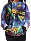 preiswerte Damen Kapuzenpullover & Sweatshirts-Damen Kapuzenshirt Lässig/Alltäglich Boho Druck Rundhalsausschnitt Mikro-elastisch Polyester Lange Ärmel Frühling Herbst