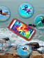 billige Mobilcovers-Etui Til Samsung Galaxy Samsung Galaxy etui Vandtæt / Transparent Fuldt etui Ensfarvet PC for S5 / S4 / S3