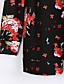 billige Bomber Jackets-Langærmet Notch Lapel Damer Normal Blomstret Efterår Vinter Simple Vintage I-byen-tøj Arbejde Kimono Jakke,Polyester Nylon