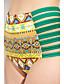 Ženski Bikini / Tankini - Bandeau grudnjak - Podstavljeni grudnjak - Visokog struka / S cvjetnim printom - Poliester