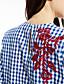お買い得  レディースシャツ-レディース お出かけ 秋 シャツ,ボヘミアン シャツカラー 刺しゅう ポリエステル 長袖 ミディアム