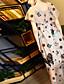 Naiset Löysä Mekko Party Bile Rento/arki,Kirjailu Pyöreä kaula-aukko Midi Lyhythihainen Polyesteri Kesä Syksy Keski vyötärö Mikrojoustava