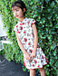 levne Dívčí šaty-Dívka je Bavlna Květinový Léto Šaty,Krátký rukáv