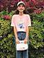 Damen Solide Einfach Ausgehen T-shirt,Rundhalsausschnitt ½ Länge Ärmel Baumwolle