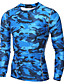 Pánské Kamuflážní barva Sportovní Aktivní Tričko-Podzim Zima Polyester Kulatý Dlouhý rukáv Střední