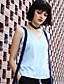 halpa Naisten yläosat-Naiset Hihaton V kaula-aukko Raion Polyesteri Yksinkertainen Päivittäin T-paita,Yhtenäinen