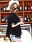 Damen Solide Einfach Lässig/Alltäglich T-shirt,Rundhalsausschnitt Kurzarm Kunst-Pelz Baumwolle