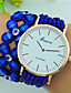 cheap Fashion Watches-Women's Bracelet Watch Large Dial Leather Band Flower / Bohemian Black / White / Blue / One Year / Tianqiu 377
