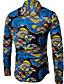 cheap Men's Shirts-Men's Cotton Shirt - Geometric Print / Long Sleeve