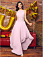 A-Line Jewel Neck Asymmetrical Chiffon Prom Formal Evening Dress with Beading Draping by TS Couture®