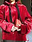 preiswerte Damen Kapuzenpullover & Sweatshirts-Damen Kapuzenshirt Sport Ausgehen Lässig/Alltäglich Einfach Aktiv Boho Solide Fleece-Futter Mikro-elastisch Baumwolle Leinen Acryl Lange