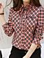 preiswerte Hemd-Damen Einfarbig Freizeit Alltag Ausgehen Hemd,Hemdkragen Sommer Herbst Langarm Polyester