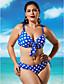 voordelige Bikini's & Badmode 2017-Dames Bandjes Bikini Zwemkleding Bloemen Effen, Fuchsia Regenboog Blauw Lichtblauw Marine Blauw