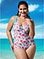 voordelige Bikini's & Badmode 2017-Dames Grote maten Bandje Eendelig - Bloemen, Cheeky Print / Print