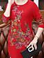 preiswerte Damen Pullover-Damen Standard Pullover-Lässig/Alltäglich Druck Rundhalsausschnitt Langarm Wolle Baumwolle Herbst Winter Mittel Mikro-elastisch