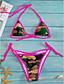 abordables Biquinis y Bañadores para Mujer-Mujer Bikini - Estampado Halter