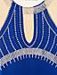 preiswerte Eiskunstlaufkleider-Eiskunstlaufkleid Damen Mädchen Eislaufen Kleider Purpur Blau Strass Leistung Eiskunstlaufkleidung Handgemacht Klassisch Ärmellos