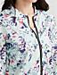 זול Bomber Jackets-פרחוני  בוטני עומד סגנון רחוב ג'קט - בגדי ריקוד נשים