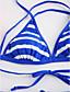 رخيصةأون ملابس السباحة والبيكيني 2017 للنساء-شورت سباحة ظهر مثير, مخطط - بيكيني مثلث رياضي للمرأة
