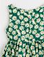 저렴한 여아 드레스-여자의 드레스 플로럴, 여름 폴리에스테르 민소매 꽃 레드 그린