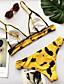 povoljno Bikini i kupaći 2017-Žene Osnovni / Boho S naramenicama Bijela Háromszög Cheeky gaćice Bikini Kupaći kostimi - Leopard Print S M L / Super seksi