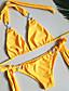 povoljno Bikini i kupaći 2017-Žene Na vezanje oko vrata Bikini - Jednobojni, Vezanje sa strane