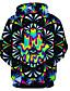 voordelige Herenhoodies & Sweatshirts-Heren Standaard / overdreven Grote maten Ruimvallend Broek - Geometrisch / 3D / Tribal Print Regenboog / Capuchon / Lange mouw / Herfst / Winter