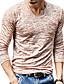 お買い得  新着 メンズシャツ-男性用 プリント Tシャツ ベーシック Vネック スリム ソリッド / 長袖 / 春 / 秋