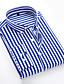 cheap Men's Tops-Men's Daily EU / US Size Shirt - Striped Classic Collar Black / Long Sleeve