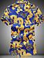 hesapli Erkek Gömlekleri-Erkek İnce - Gömlek Hayvan Büyük Bedenler Havuz