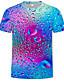 cheap Men's 3D-Men's T shirt 3D Print Graphic Beer Print Short Sleeve Daily Wear Tops Streetwear Exaggerated Rainbow