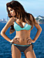 cheap Bikini Sets-Women's Bikini Swimwear Swimsuit - Color Block Lace up M L XL Light Blue Blushing Pink Light Green