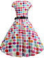 cheap Elegant Dresses-Women's Ladies Swing Dress - Sleeveless Printing 3D Digital Print Printing Trendy Date Street White S M L XL XXL