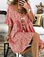 cheap Casual Dresses-Women's Maxi Sheath Dress - Short Sleeve Geometric Spring & Summer V Neck Basic 2020 Blue Purple Red Yellow Green S M L XL XXL XXXL