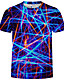 cheap Men's Tops-Men's Plus Size Abstract Graphic Print T-shirt Daily Round Neck White / Purple / Green / Royal Blue / Summer / Short Sleeve