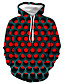 cheap Men's Tops-Men's Plus Size Basic / Casual / Daily Hoodie - Geometric / Color Block / 3D Hooded Red XXXL