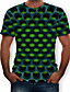 cheap Men's Tops-Men's Graphic 3D Print T-shirt Street chic Exaggerated Daily Casual Round Neck Purple / Yellow / Red / Lime Green / Green / Summer / Short Sleeve