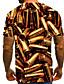 """זול טישרטים לגופיות לגברים-קולור בלוק / 3D / פירות צווארון עגול סגנון רחוב / מוּגזָם מועדונים האיחוד האירופי / ארה""""ב גודל טישרט - בגדי ריקוד גברים דפוס זהב / שרוולים קצרים"""