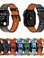זול להקות Smartwatch-רצועת עור עבור רצועת שעונים תפוח 42mm 38mm 44mm 40mm סדרת קורל iwatch 43/2/1 אופנה במבוק שורש צמיד watchband חגורה