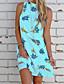 זול שמלות מיני-קולר מעל הברך פרחוני - שמלה גזרת A בגדי ריקוד נשים