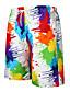 hesapli Erkek Pantolonları ve Şortları-Erkek Temel İnce Şortlar Pantolon - Çok Renkli Gökküşağı M L XL