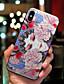 זול מגנים לאייפון-מגן עבור Apple iPhone XS / iPhone XR / iPhone XS Max מזוגג כיסוי אחורי סקסי ליידי / תבנית גאומטרית רך TPU
