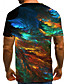 cheap Men's 3D-Men's T shirt Graphic Abstract Print Short Sleeve Casual Tops Streetwear Exaggerated Green