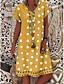 cheap Summer Dresses & Boho-Women's Plus Size Shift Dress Knee Length Dress - Short Sleeve Polka Dot Print Summer V Neck Casual Holiday Vacation 2020 Blue Red Khaki Green Gray M L XL XXL XXXL XXXXL XXXXXL