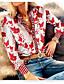 cheap Blouses & Shirts-Women's Geometric Shirt Daily Shirt Collar Purple / Beige