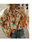 cheap Blouses & Shirts-Women's Daily Loose Shirt - Geometric Shirt Collar Orange