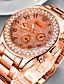 Недорогие Кварцевые часы-Жен. Кварцевые Мода Элегантный стиль Серебристый металл Золотистый Розовое золото Нержавеющая сталь Китайский Кварцевый Розовое Золото Золотой Серебряный Защита от влаги Повседневные часы обожаемый